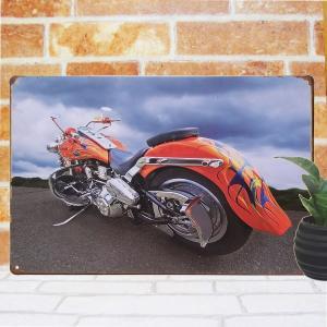 ブリキ看板 1000種類 バイク taオレンジ ポスター|taiyozakka