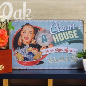 ブリキ看板 1000種類 A CLEAN HOUSE ポスター|taiyozakka