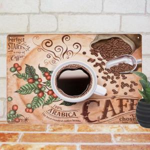 ブリキ看板 コーヒー st ポスター カフェ コーヒー豆 アンティーク調 taiyozakka