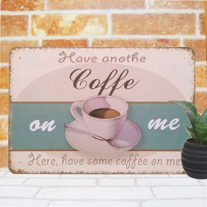 ブリキ看板 コーヒー on アンティーク風 ポスター カフェ インテリア 雑貨 taiyozakka