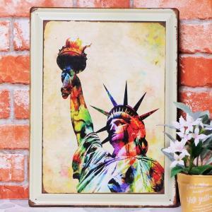 ブリキ看板【大】1000種類 自由の女神 7 ポスター|taiyozakka