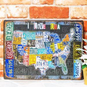 ブリキ看板【大】1000種類 ナンバープレート USA ポスター|taiyozakka