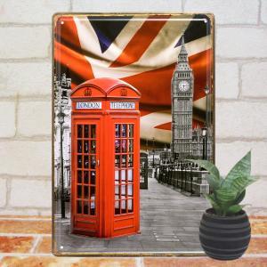 ブリキ看板e ロンドンdby インテリア ポスター ヨーロッパ アートパネル|taiyozakka