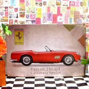 ブリキ看板 1000種類 フェラーリ 250GT赤y ポスター|taiyozakka