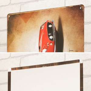ブリキ看板 1000種類 フェラーリ 250GT赤n ポスター taiyozakka 03