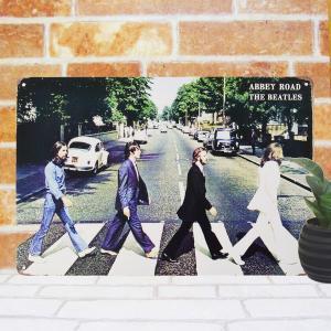 ブリキ看板k ビートルズ アビーロードv グッズ CDアルバム ポスター 写真 taiyozakka 02