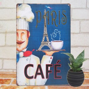 ブリキ看板 1000種類 カフェ de パリ ポスター taiyozakka
