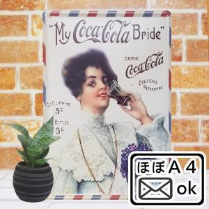ブリキ看板 コカコーラ am2 レトロ ポスター アンティーク アート|taiyozakka