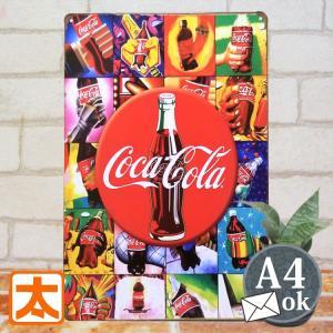 ブリキ看板 カラフル コカコーラ bu 雑貨 アメリカン雑貨 小物 ポスター|taiyozakka