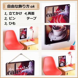 ブリキ看板 カクテル shots チョークアート 黒板調 カラフル ビンテージ|taiyozakka|06
