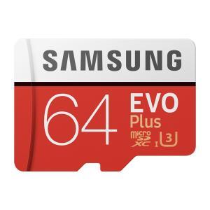 GoPro向けSDカード【SAMSUNG EVO Plus microSDXCカード 64GB】ゴー...