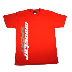 ウェア「モンスタースポーツ ビッグロゴTシャツ(半袖/レッド/サイズ:S)」「ZWS25S」|tajimastore