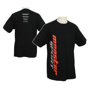 ウェア「モンスタースポーツ ビッグロゴTシャツ(半袖/ブラック/サイズ:XXL)」「ZWS27K2XL」|tajimastore