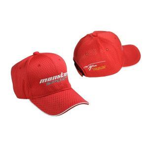 帽子「モンスタースポーツ メッシュキャップ(レッド)」「ZZWC20RS」|tajimastore