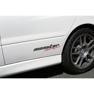 モンスタースポーツステッカー「モータースポーツステッカー(クリア×ガンメタ×レッド)」スイフト/ジムニー/ランサーエボリューション/86*362×75.5「ZZZB20」|tajimastore