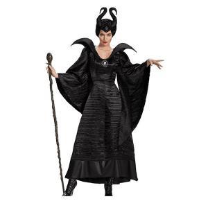 マレフィセント Maleficent ハロウィン衣装 レディース コスプレ 仮装 魔女 魔法 女王 ...