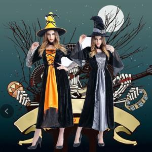 ハロウィン衣装 ハロウィーン仮装 巫女 魔女 ハロウィン用品 コスプレ衣装 大人用 レディース ロン...