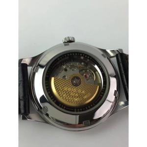 df9b5a43c8 ... オリス ORIS 腕時計 時計 メンズ レディース シルバー ブラック 革ベルト 自動巻き ポインターデイト バックスケルトン ...