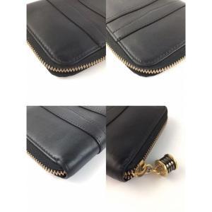f0523ad94006 ... ブルガリ 財布 長財布 二つ折り ラウンドファスナー レディース メンズ ブラック レザー ビーゼロワン B- ...