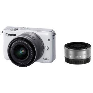 【新品】【送料無料】Canon ミラーレス一眼カメラ EOS M10 ダブルレンズキット(ホワイト)...