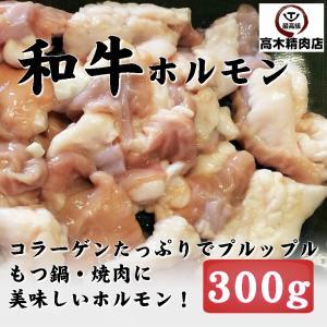 黒毛和牛ぷりぷり 生ホルモン 300g 焼肉 BBQ もつ鍋|takagiseiniku