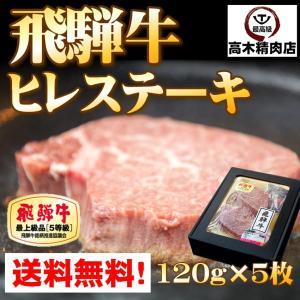 肉 ギフト 飛騨牛 ヒレ ステーキ 120g×5枚 化粧箱入 牛肉 ステーキ 和牛 A5等級 最高級 ギフト 贈り物 お歳暮 お中元 父の日 内祝 記念日 和牛|takagiseiniku