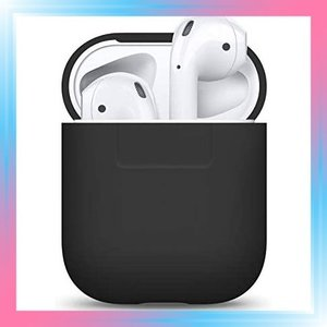 AirPods/ブラック AIRPODS CASE AirPods ケース 専用 シリコン