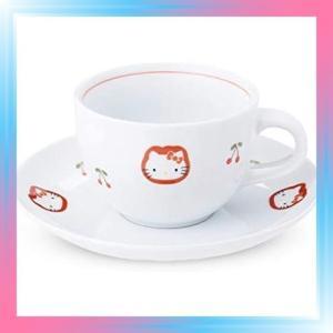 有田焼 HELLO KITTY ハローキティ チェリー コーヒー碗皿 カップ|takahashi-shopping