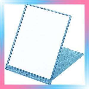 Large/ブルー ラメ入り コンパクトミラー L ブルー YLA-900 takahashi-shopping