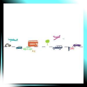 自動車と乗り物 6Mウォールボーダー マルチカラー ART0111|takahashi-shopping