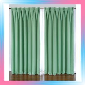 100X200/グリーン 1級遮光カーテン 2枚入り グリーン 巾100X丈20|takahashi-shopping