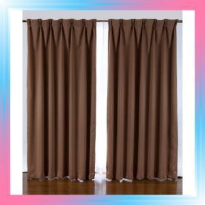 100X230/ブラウン 1級遮光カーテン 2枚入り ブラウン巾100X丈230|takahashi-shopping