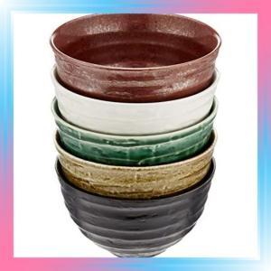 釉膳めぐり お茶漬碗揃 茶碗5個セット 美濃焼|takahashi-shopping