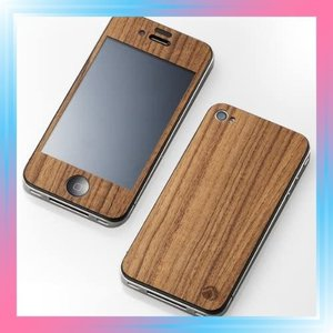 iPhone4 iPhone4S用 CLEAVE 木目PLATE 日本製 チーク DCP-IP40WT|takahashi-shopping