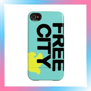iPhone4s/4用カプセルケース FREE CITY Logo Blue 816030011509|takahashi-shopping
