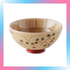 みのる陶器 水玉 青 うすかる葵型茶碗 MZAUAKO|takahashi-shopping