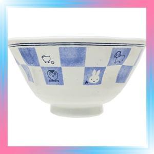 金正陶器 飯碗 白 12cm ミッフィー 和食器 茶碗 市松 201160|takahashi-shopping