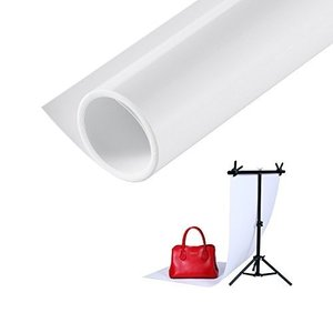PVCプラスチック素材でできた最新な背景です。パッケージ内容:ホワイト背景布x1 汚れに強く、しわも...