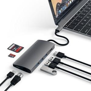 Satechi V2 マルチ USB ハブ Type-C パススルー充電 4K HDMI出力 カード...