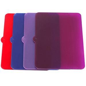 Neewer〓 4枚ユニバーサル透明ライトカラーフィルタ(Red、Blue、Pink、Purple)...