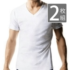 メンズ Vネック 半袖Tシャツ 2枚組  メール便×非対応|takahashi-wear