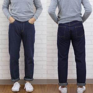 メンズ デニムストレートパンツ ブルー  メール便×非対応|takahashi-wear|03