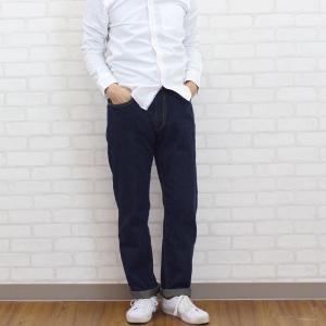 メンズ デニムストレートパンツ ブルー  メール便×非対応|takahashi-wear|04