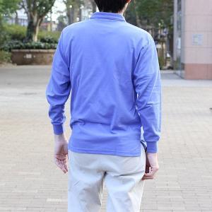メンズ 長袖鹿の子ポロシャツ メール便×非対応の詳細画像2