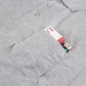 メンズ 長袖鹿の子ポロシャツ メール便×非対応の詳細画像4