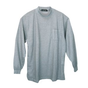 メンズ 長袖鹿の子ハイネックシャツ  メール便×非対応