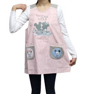 ミッキー&ミニー ラン型エプロン JS-1063  メール便○1枚まで対応|takahashi-wear