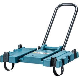 集塵機の上部にマックパックを連結し、荷物をまとめて運ぶ。 移動に便利なハンドル付き ホースバンド収納