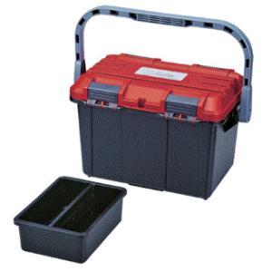 リングスター 道具箱 ドカット D-4700(レッド/ブラック)   465×333×322   ※丸のこ収納可|takahashihonsha