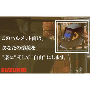 液晶式自動遮光溶接面  溶接・グラインド用ヘルメット面 スズキッド (SUZUKID) JIDOMEN FF JM-200FF|takahashihonsha